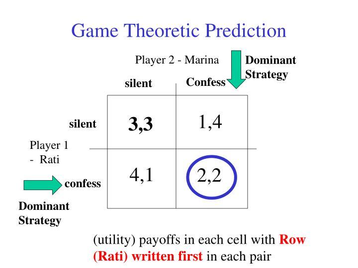 Game Theoretic Prediction
