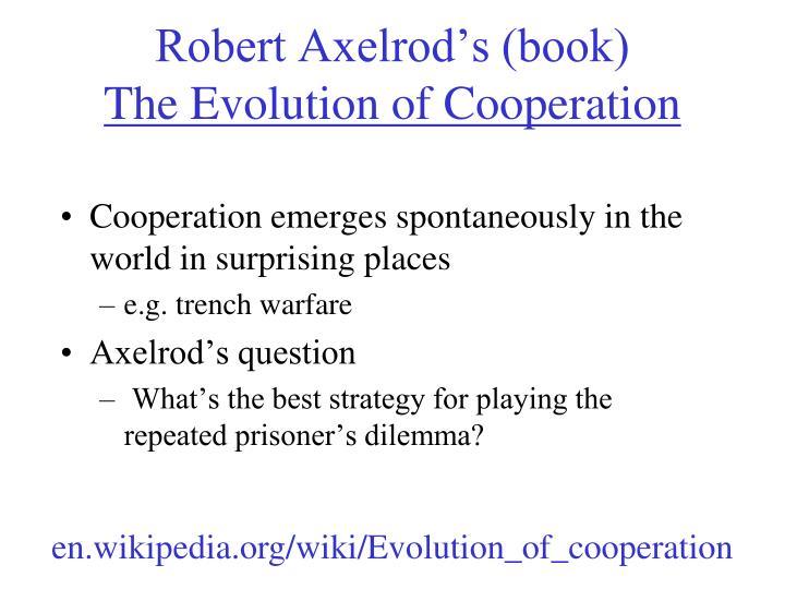Robert Axelrod's (book)