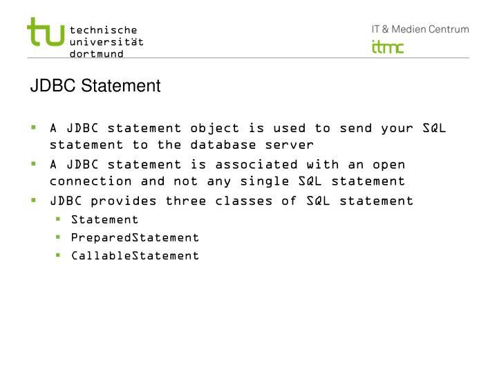 Jdbc statement