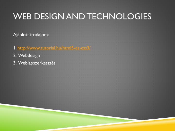 WEB DESIGN AND