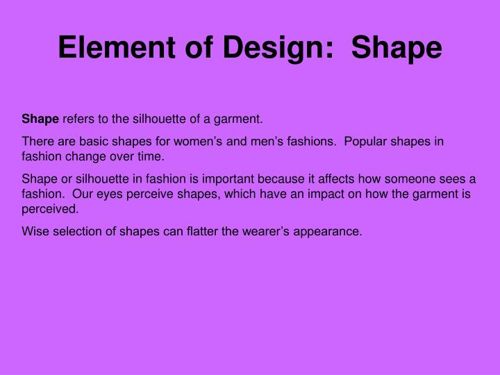 Element of Design:  Shape