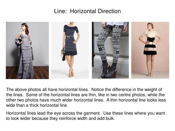 Line:  Horizontal Direction