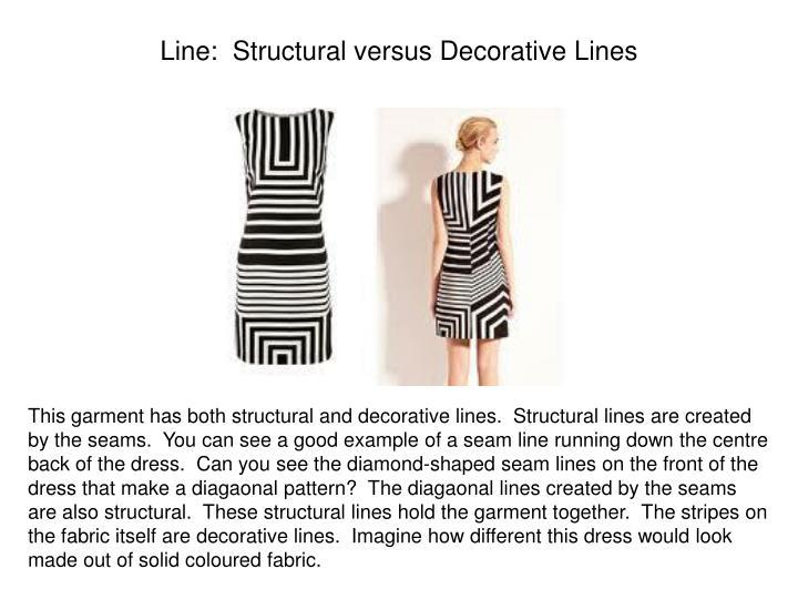 Line:  Structural versus Decorative Lines