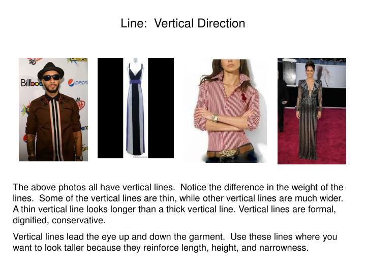 Line:  Vertical Direction