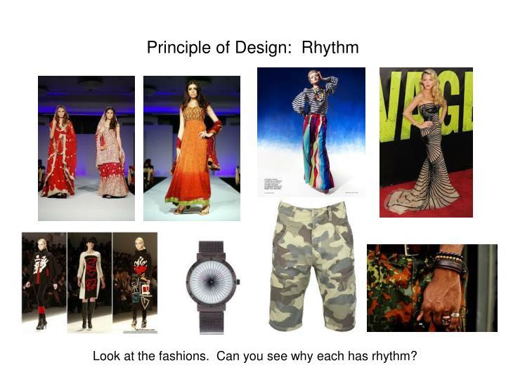 Principle of Design:  Rhythm