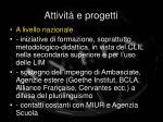 attivit e progetti