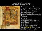 lingua e cultura