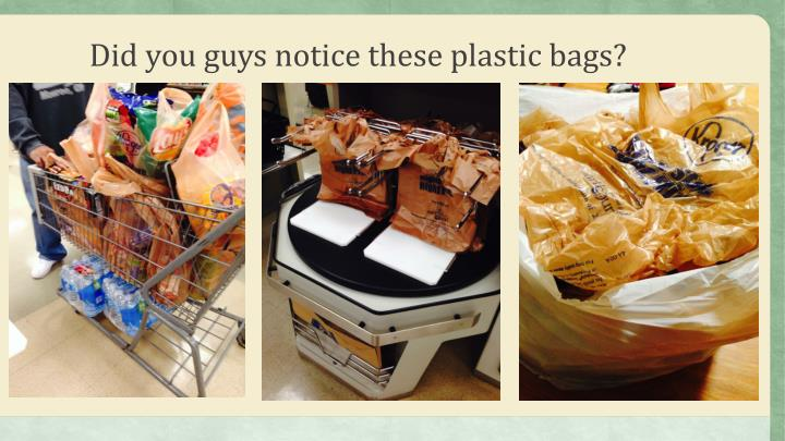 Did you guys notice these plastic bags