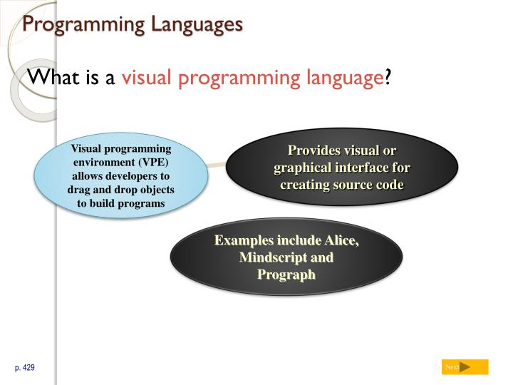 Visual programming environment (VPE)