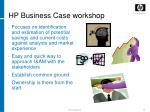 hp business case workshop