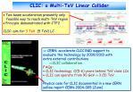 clic a multi tev linear collider