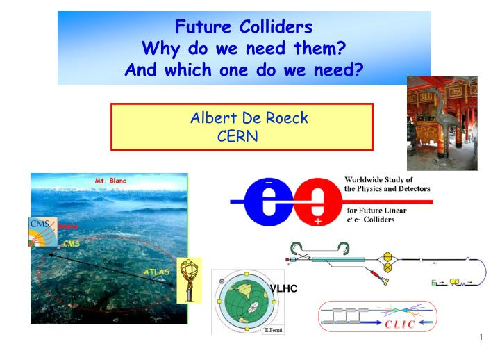 future colliders why do we need them and which one do we need