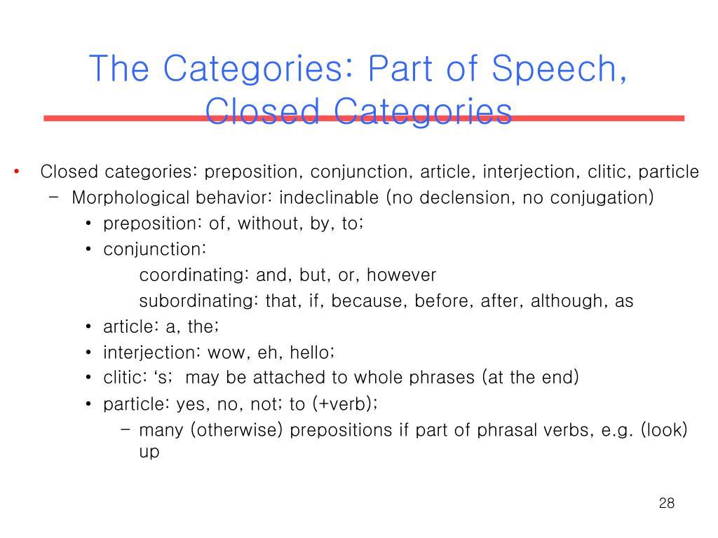 if part of speech