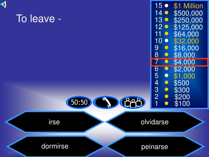 To leave -