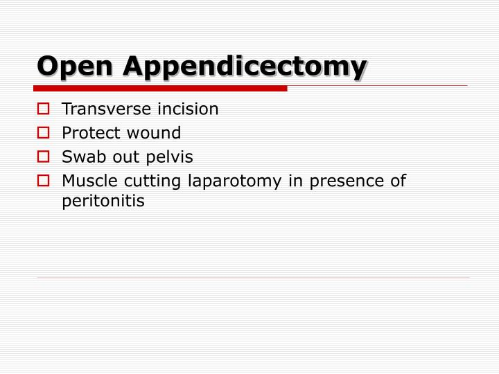 Open Appendicectomy