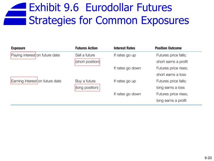 Exhibit 9.6  Eurodollar Futures Strategies for Common Exposures