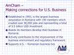 amcham making connections for u s business