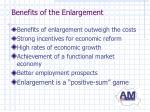 benefits of the enlargement