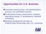 opportunities for u s business