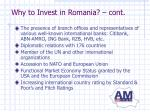 why to invest in romania cont