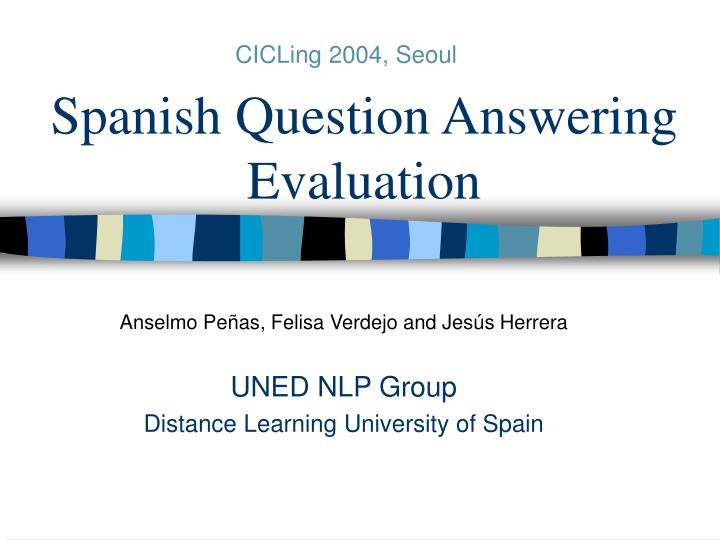 Spanish question answering evaluation