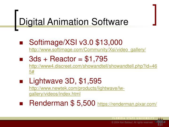 Digital Animation Software