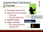 digital music distribution channels