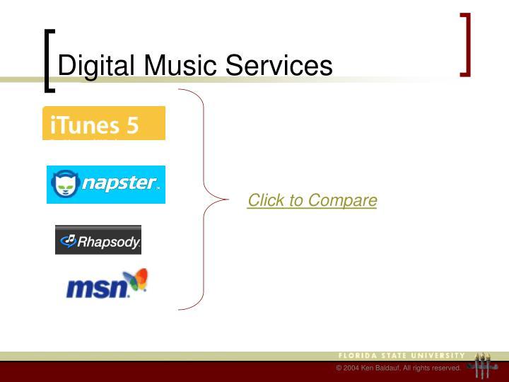 Digital Music Services