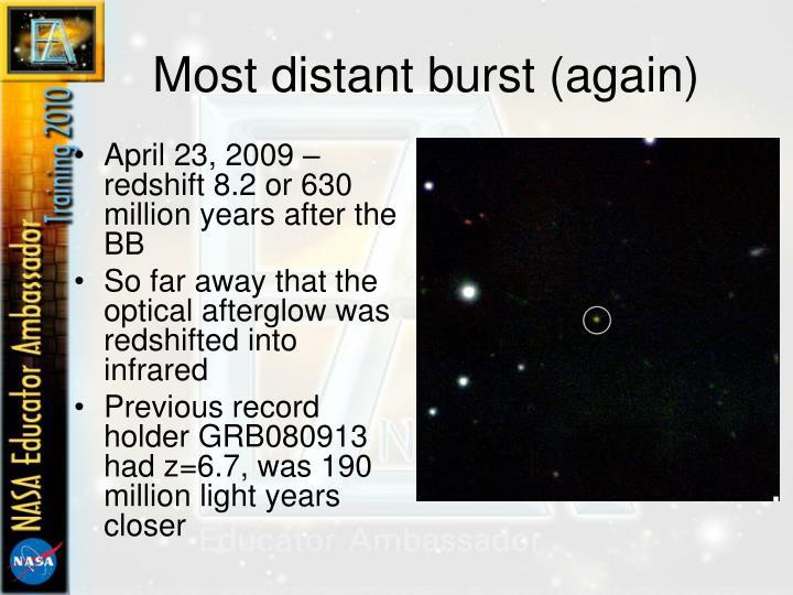 Most distant burst (again)