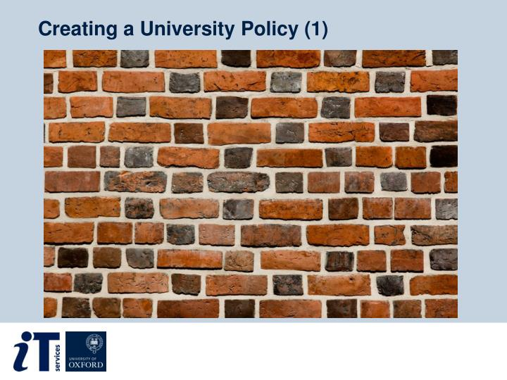 Creating a University Policy (1)