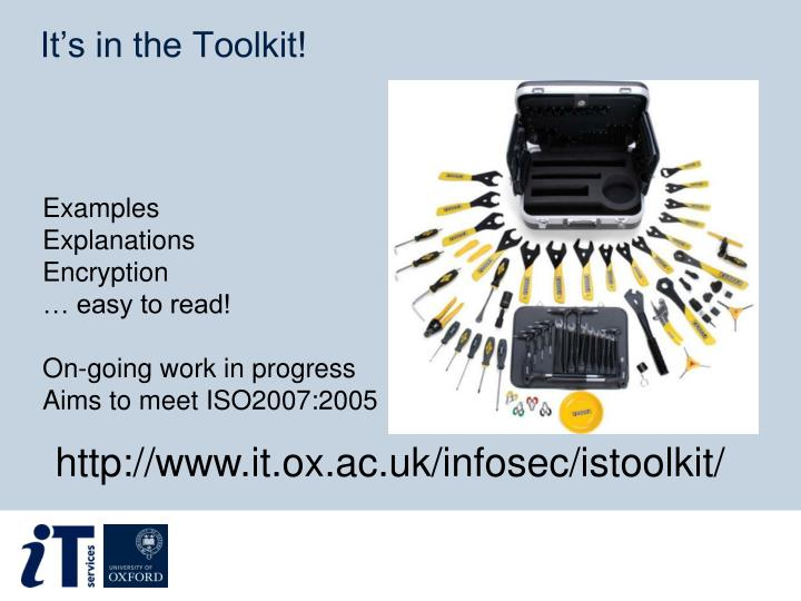 It's in the Toolkit!