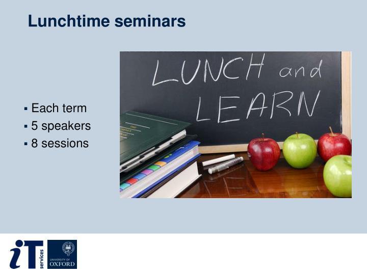Lunchtime seminars