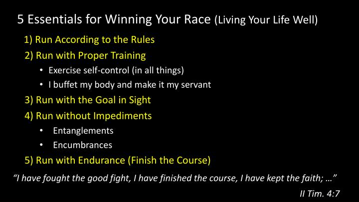 5 Essentials for Winning Your Race