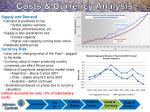 costs currency analysis
