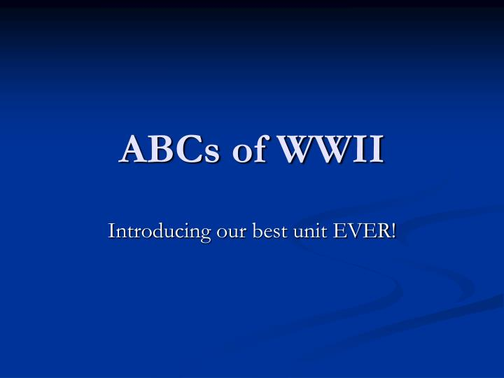 abcs of wwii n.