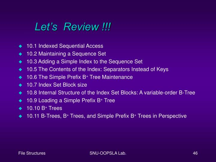 Let's  Review !!!