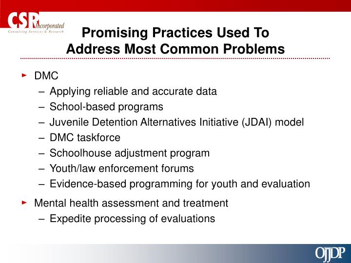 Promising Practices Used To