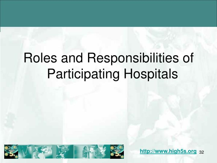 Roles and Responsibilities of Participating Hospitals