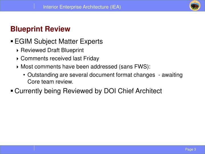 Blueprint review