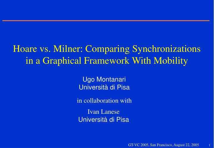 Hoare vs milner comparing synchronizations in a graphical framework with mobility