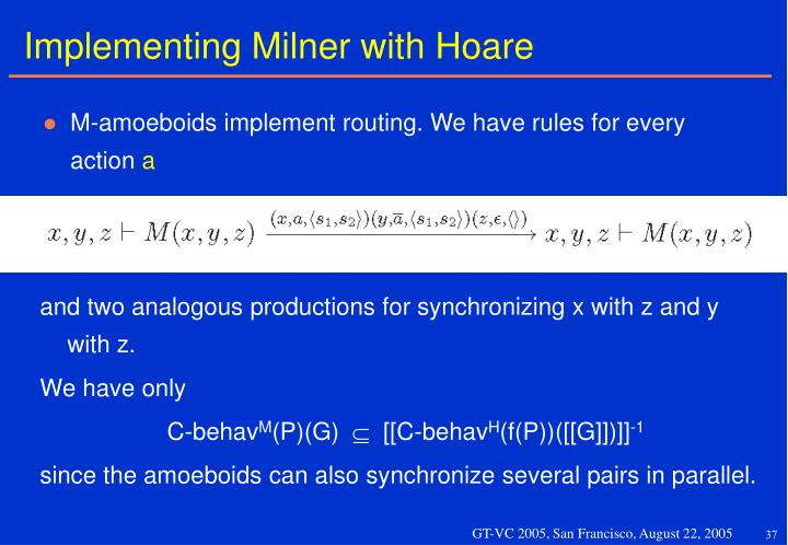 Implementing Milner with Hoare