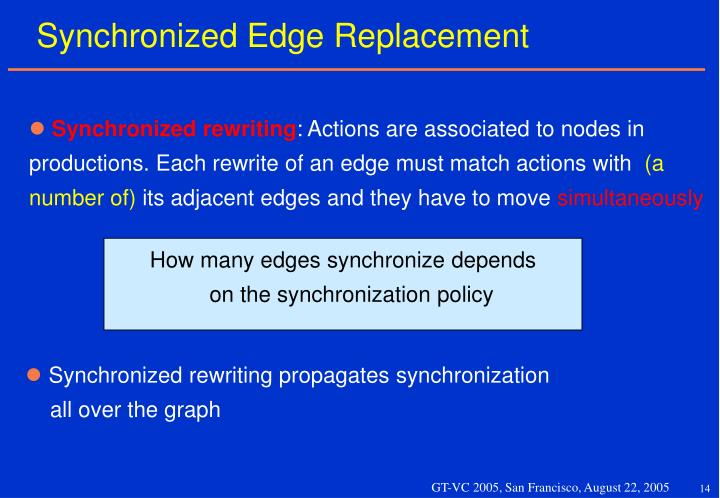Synchronized Edge Replacement