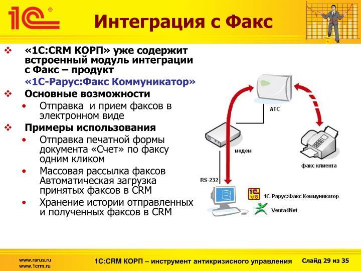 Интеграция с Факс