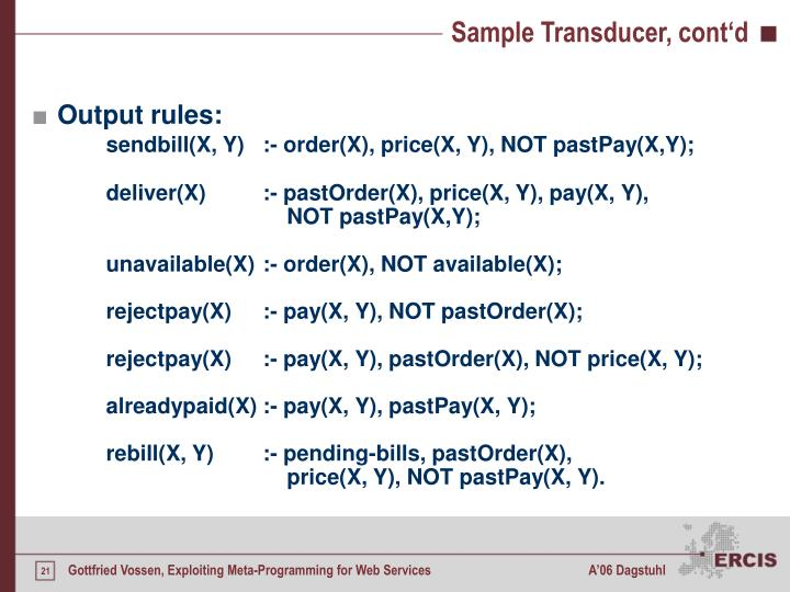 Sample Transducer, cont'd