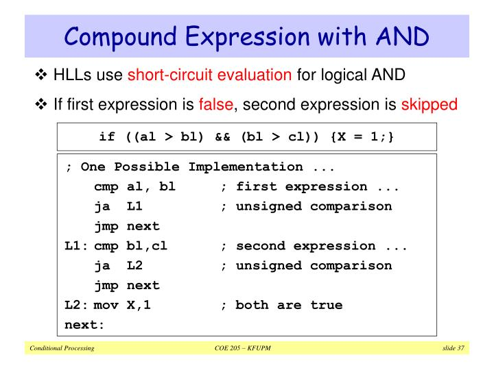Compound Expression with AND