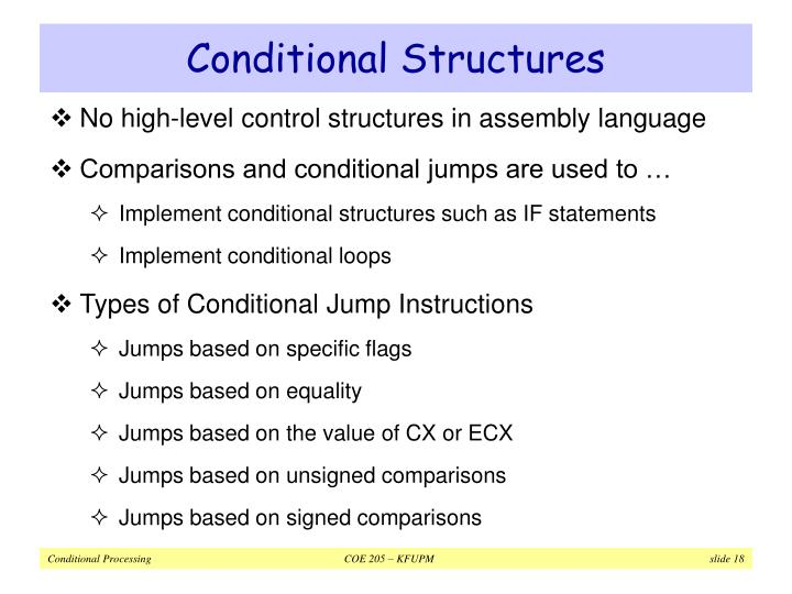 Conditional Structures
