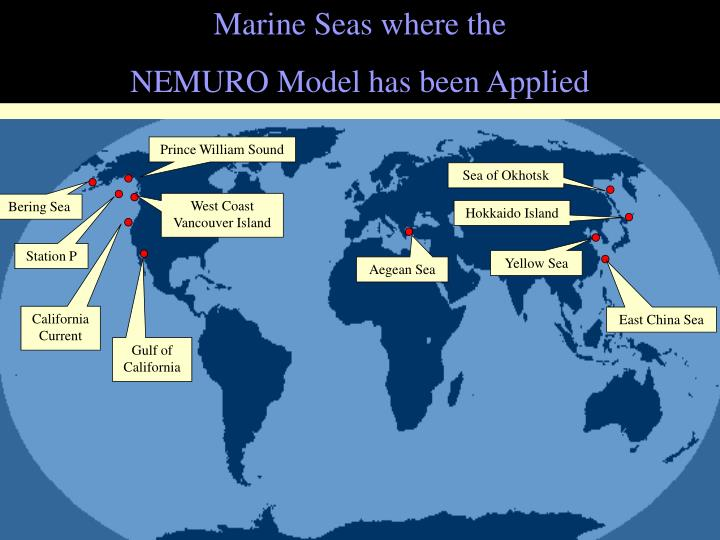 Marine Seas where the
