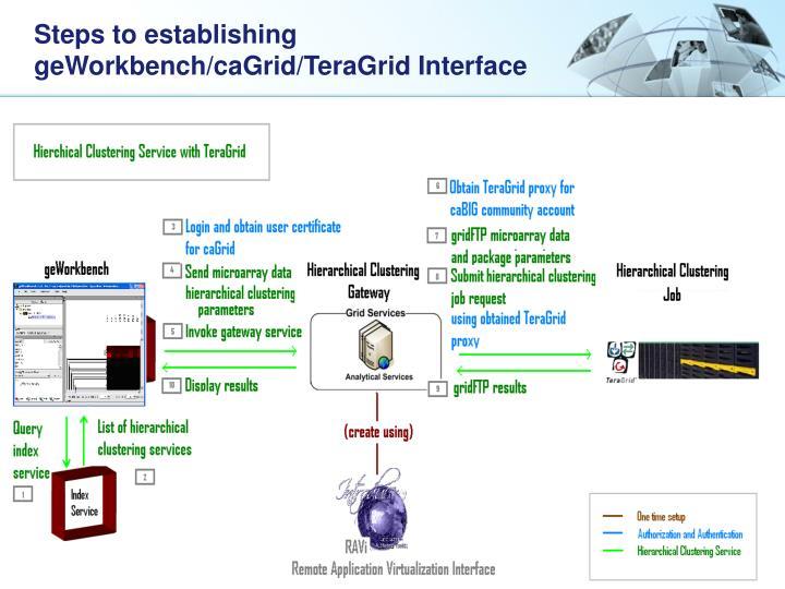 Steps to establishing geworkbench cagrid teragrid interface