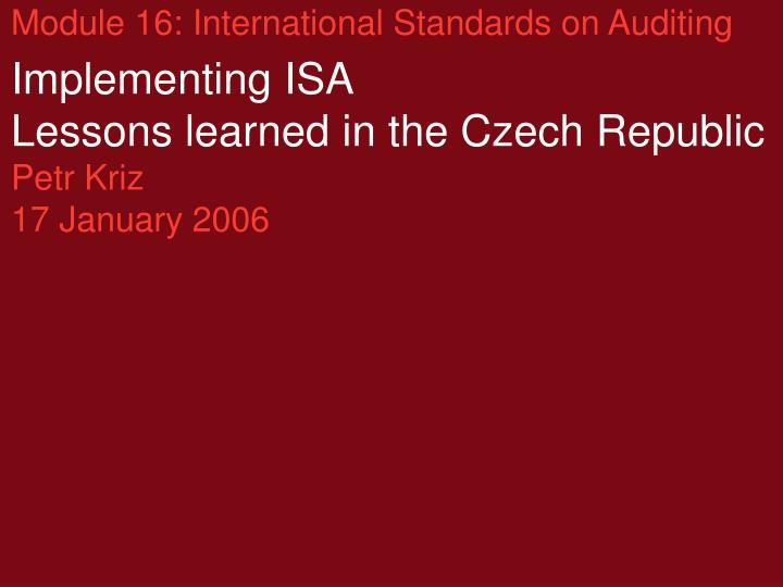 international accounting standard 16 This is the fifth article in our series providing an introduction to international accounting standards.
