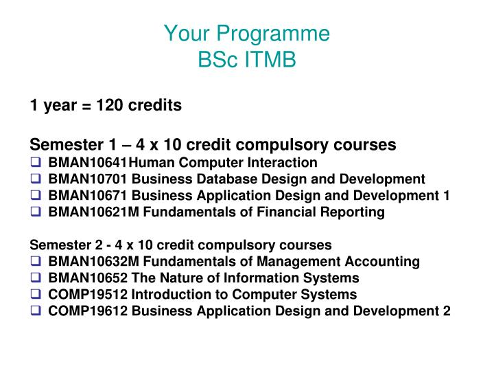 Ppt Bsc Information Technology Management For Business